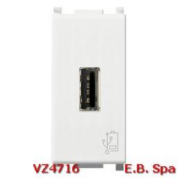 Unità alimentazione USB 5V1,5A 1M bianco - VIMAR SPA VZ4716