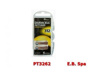 DA312 DU79 BATTERIA ZN BL.6PZ.1,4V 07,75X3,56 - DURACELL PT3262