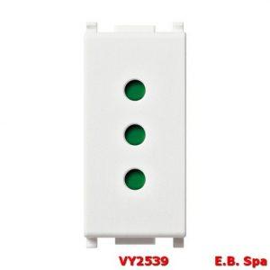 Presa 2P+T 10A P11 bianco - VIMAR SPA VY2539