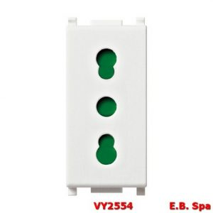 Presa 2P+T 16A P17/11 bianco - VIMAR SPA VY2554