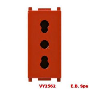 Presa 2P+T 16A P17/11 rosso - VIMAR SPA VY2562