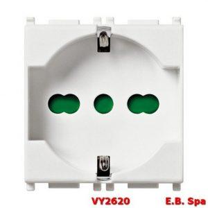 Presa 2P+T 16A universale bianco - VIMAR SPA VY2620
