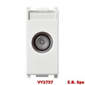 Presa TV-RD-SAT passante bianco - VIMAR SPA VY2737