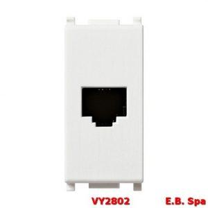 Presa RJ11 6/4 bianco - VIMAR SPA VY2802