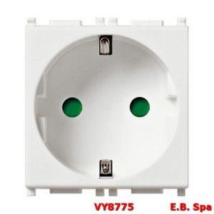 Presa SICURY 2P+T 16A tedesco bianco - VIMAR SPA VY8775