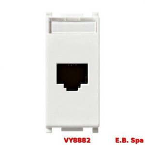 Presa RJ45 Netsafe Cat6A FTP bianco - VIMAR SPA VY8882