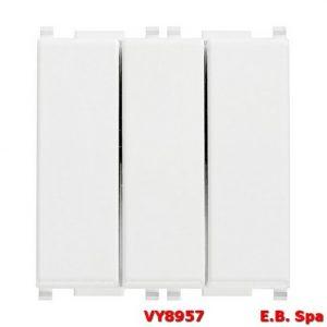 Tre interruttori 1P 20AX bianco - VIMAR SPA VY8957
