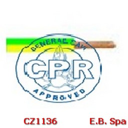 FS17 Cavo antifiamma 1,5mmq Giallo/Verde (100 METRI) - CONDUTTORI ISOLATI PVC CZ1136M