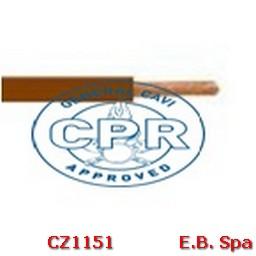 FS17 Cavo antifiamma 1,5mmq Marrone (100 METRI) - CONDUTTORI ISOLATI PVC CZ1151M