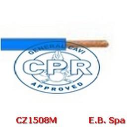 FS17 Cavo antifiamma 10mmq Blu (100 METRI) - CONDUTTORI ISOLATI PVC CZ1508M