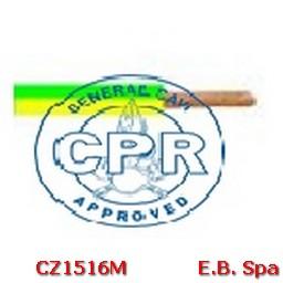 FS17 Cavo antifiamma 10mmq Giallo/Verde (100 METRI) - CONDUTTORI ISOLATI PVC CZ1516M