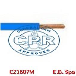 FS17 Cavo antifiamma 16mmq Blu - CONDUTTORI ISOLATI PVC CZ1607M