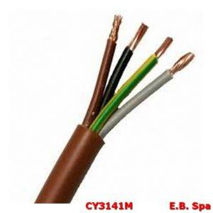 Cavo FS18OR marrone 4G2,50mmq (100 METRI) - CONDUTTORI ISOLATI PVC CY3141M