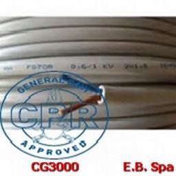 FG16OR16-0,6/1KV FLEX 2X10 GR - CONDUTTORI ISOLATI GOMMA CG3000
