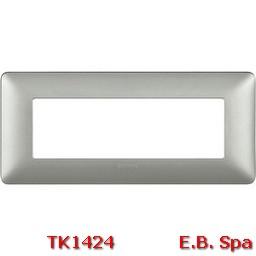 matix - placca 6p silver - BTICINO S.P.A TK1424
