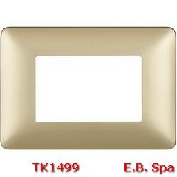 matix - placca 3p gold - BTICINO S.P.A TK1499
