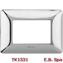 matix - placca 3p cromo lucido - BTICINO S.P.A TK1531