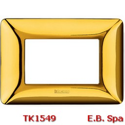 matix - placca 3p oro lucido - BTICINO S.P.A TK1549
