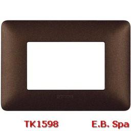 matix - placca 3p marrone caffe - BTICINO S.P.A TK1598