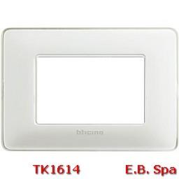 matix - placca 3p colors ghiaccio - BTICINO S.P.A TK1614