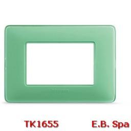 matix - placca 3p colors te verde - BTICINO S.P.A TK1655