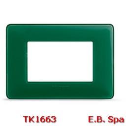 matix - placca 3p colors smeraldo - BTICINO S.P.A TK1663