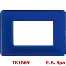 matix - placca 3p colors cobalto - BTICINO S.P.A TK1689