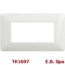 matix - placca 4p bianco - BTICINO S.P.A TK1697