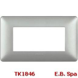 matix - placca 4p silver - BTICINO S.P.A TK1846