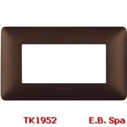 matix - placca 4p marrone caffe - BTICINO S.P.A TK1952