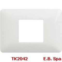 matix - placca 2p centrati bianco - BTICINO S.P.A TK2042