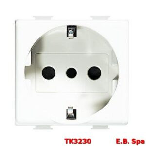 Presa di corrente Schuko BTicino Matix 2P+T 16 A P30 standard tedesco colore bianco - BTICINO S.P.A TK3230