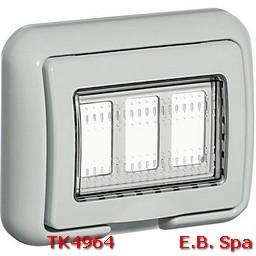 idrobox matix - coperchio IP55 3P grigio - BTICINO S.P.A TK4964