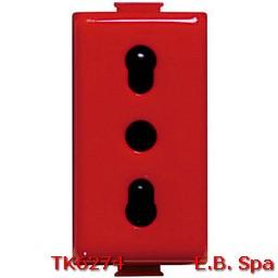matix magic - presa corrente 10/16A rossa - BTICINO S.P.A TK6274