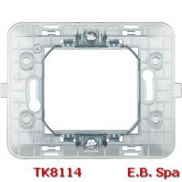 matix - supporto 2P scatola tonda - BTICINO S.P.A TK8114