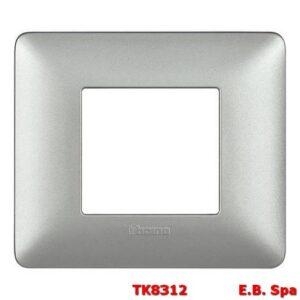 matix - placca 2p silver - BTICINO S.P.A TK8312