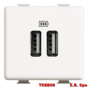 matix - caricatore USB 2p 2400mA 5V - BTICINO S.P.A TK8809