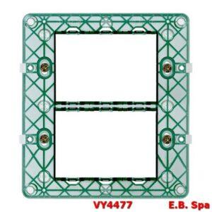 Supporto 6M (3+3) + viti - VIMAR SPA VY4477